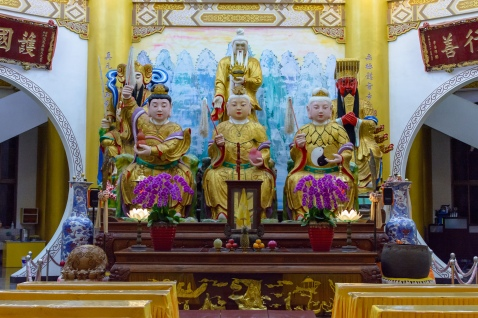Three gods of TianYuan Temple