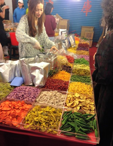 Dry fruits and veggies.