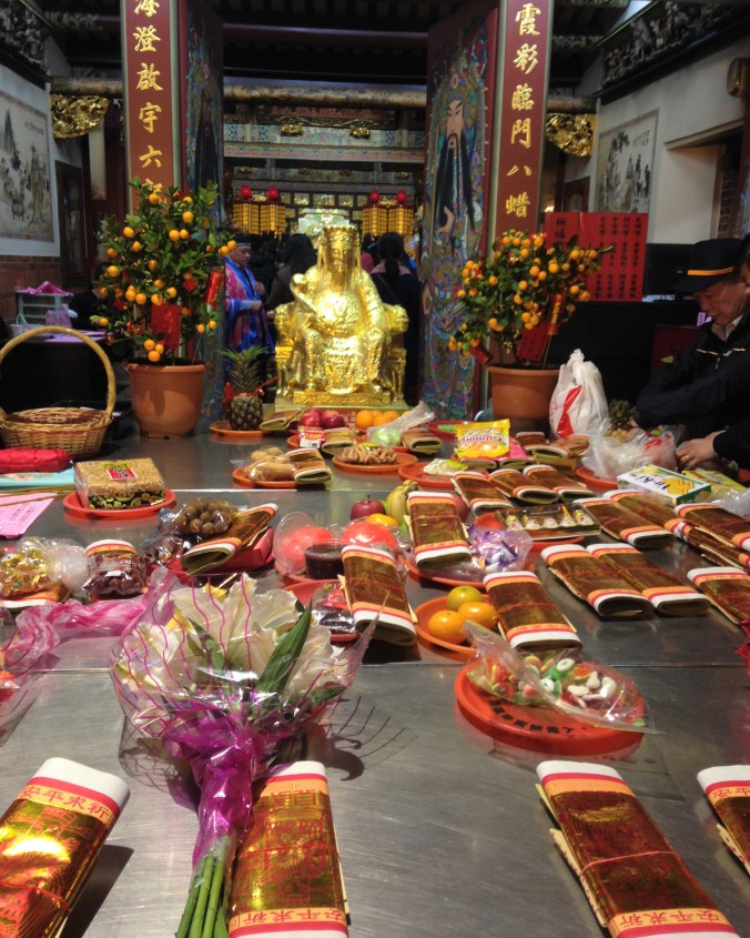 Offerings from people to the god