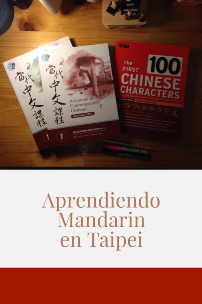 Aprendiendo mandarin en Taipei